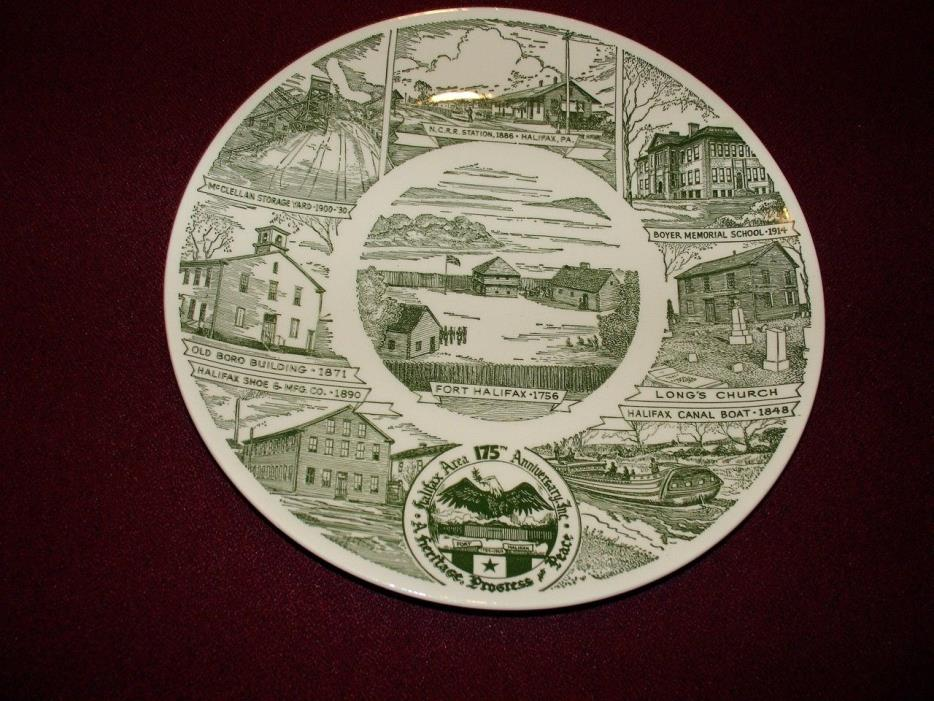 Rare Collector Ceramic Plate Halifax Fort and Area, Kettlespings Kilns, 1950