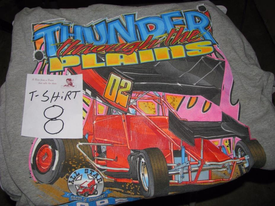 All Star Circuit of Champions dirt sprint car racing red Tee Shirt  2002 [ 8 ]