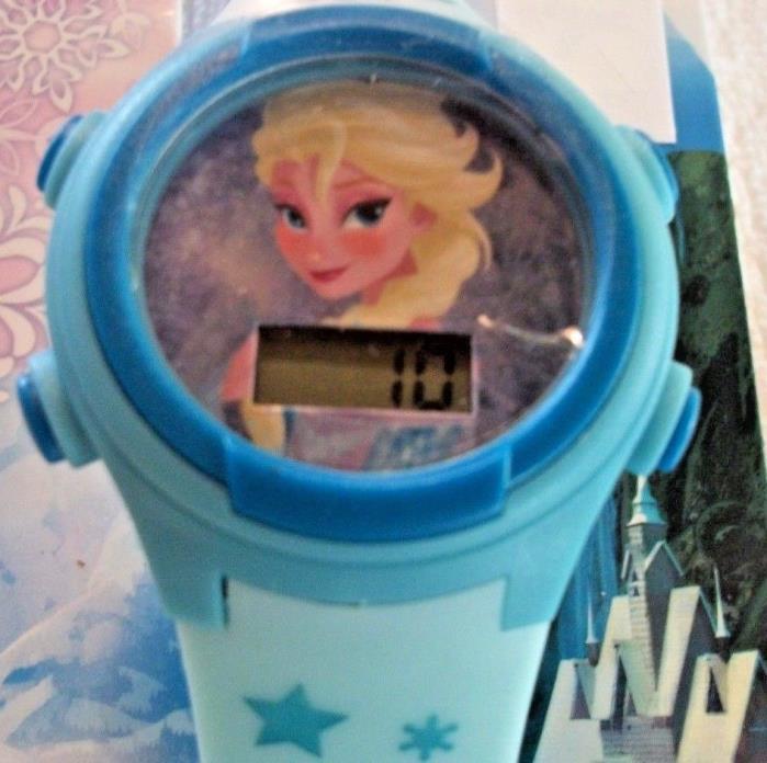 Disney Frozen LCD Blue Plastic Elsa Wrist Watch