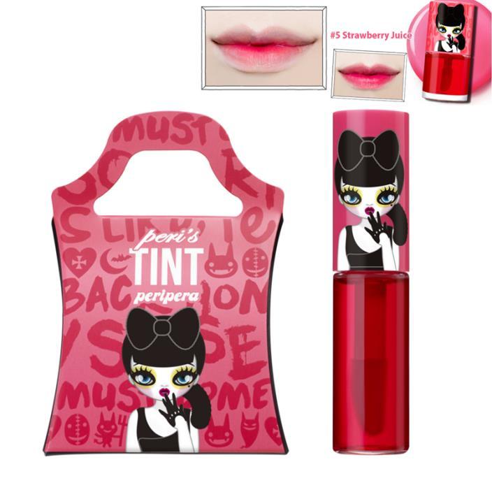 Club Clio Peripera Peri's Lip Tint Water- Sample Size 2.5 ml- Strawberry Juice