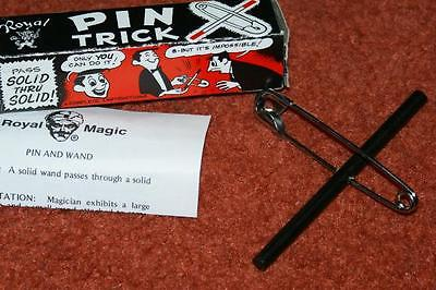 Wand through Pin -- visible, anytime magic!  Perfect pocket trick.       TMGS