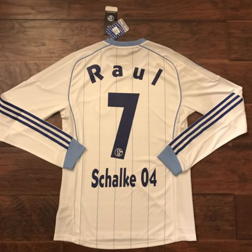 2011/13 Schalke 04 Away Jersey #7 Raul Medium Player Issue L/S Trikot Camiseta