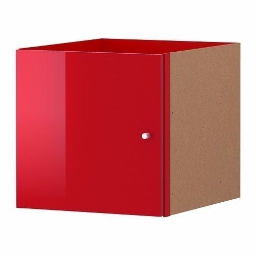 Ikea Kallax 402.795.52 High Gloss Red 13x13 Insert with Door Fits Cube