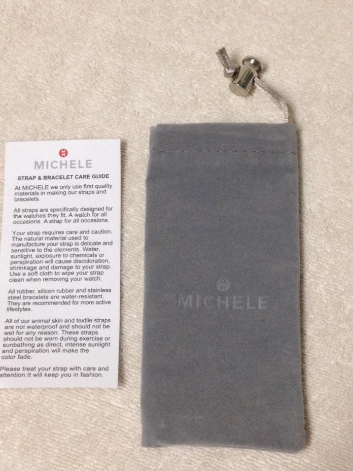 MICHELE WATCH STRAP & BRACELET STORAGE CARE BAG + INSTRUCTIONS * NEW