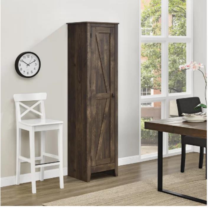 Pantry Kitchen Cabinet Cupboard Storage Shelves Furniture Organizer Brown Rustic