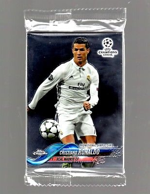 Topps Chrome Soccer UEFA Champions League Promo Pack 4 Cards 2018 - RONALDO