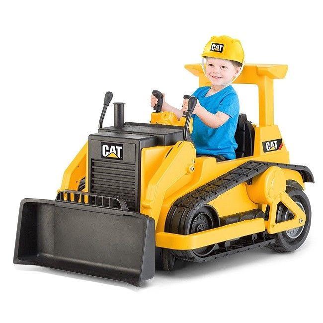 Kid Cat Bucket Tractor Construction Ride On Toys Caterpillar Bulldozer Trax 12v