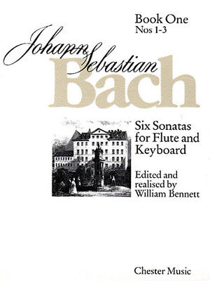 J.S. Bach Six Sonatas Flute Keyboard Classical Sheet Music 1 Nos 1-3 Book NEW