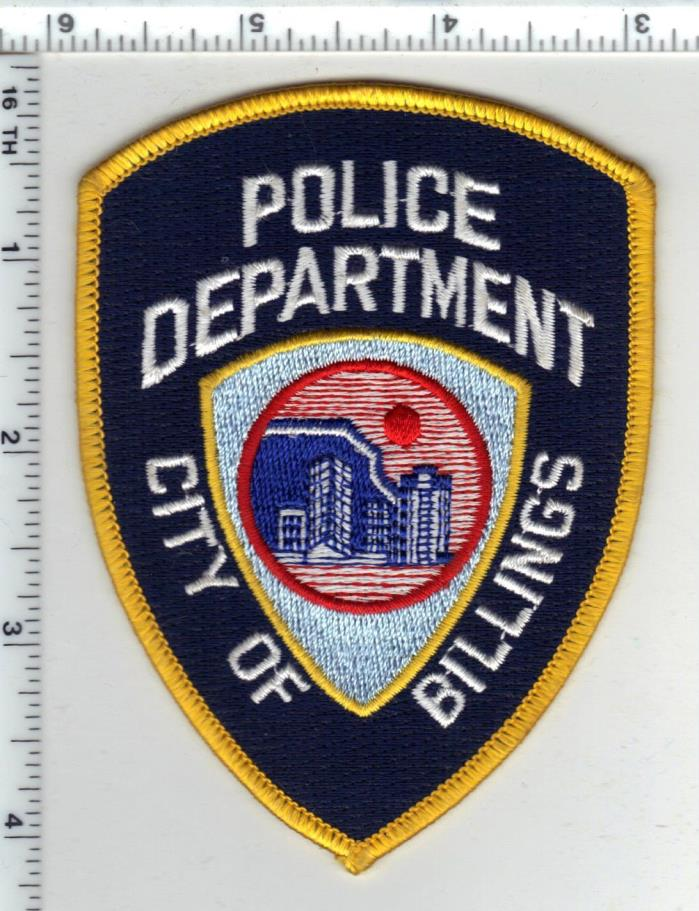 Billings Police (Montana) 2nd Issue Shoulder Patch - new from the 1980's