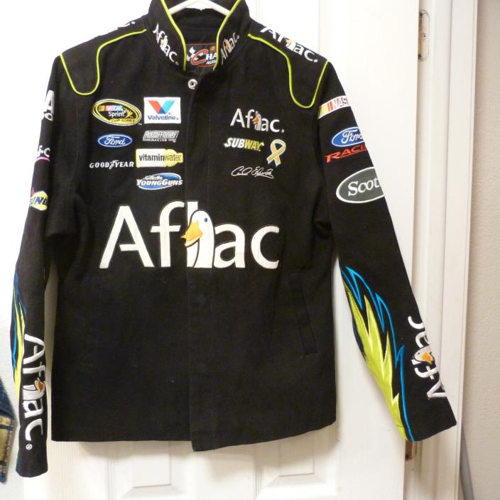 Carl Edwards #99 Aflac Nascar Chase Authentics Bomber Jacket MD Sprint Series