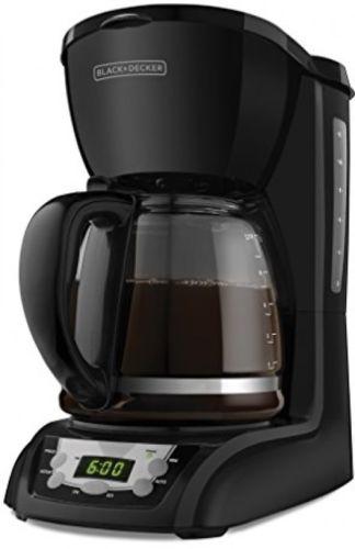Programmable Coffeemaker Black Digital Controls 2-Hour Auto Shutoff Hot Strong