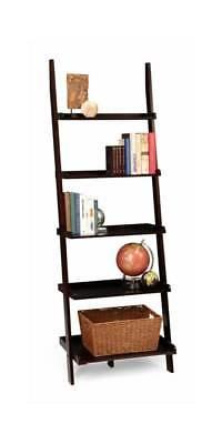Leaning Ladder Bookshelf in Espresso [ID 2210376]
