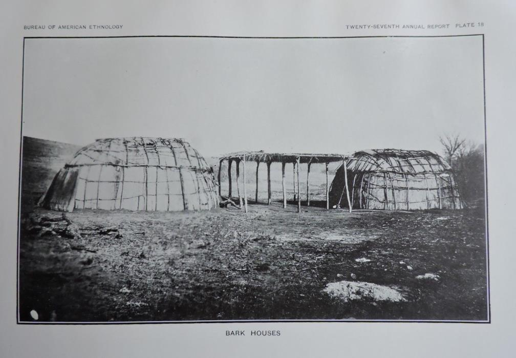 Bark Houses Native American Ethnology Art Print 1911