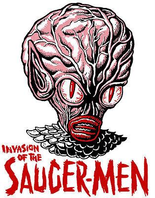 INVASION of the SAUCERMEN • Iron-On Transfer • Retro MANI-YACK Design!!!
