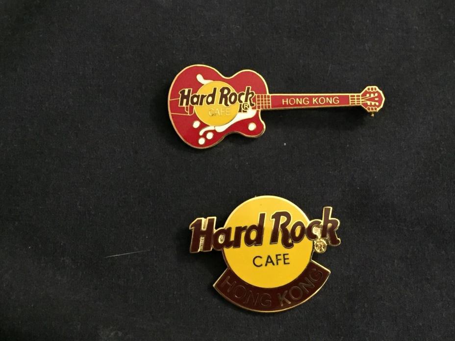 2 Hard Rock Cafe pins from HONG KONG