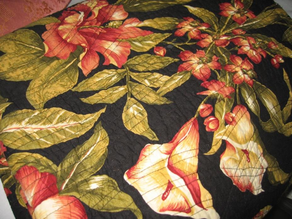 Kingsway Tropical Print Quilted Throw 50