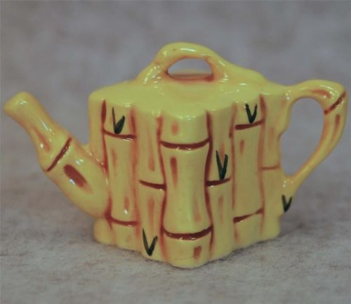 MIB Paul Cardew Design Collectibles Mini Miniature Tiny Bamboo Teapot