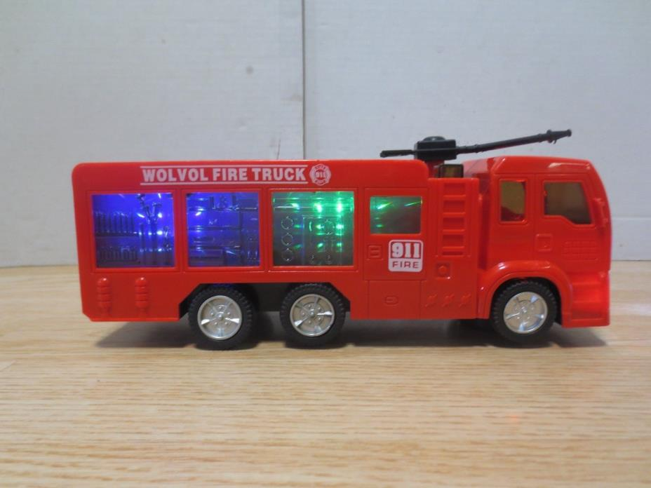 WolVol Electric Fire Truck Toy with Stunning 3D Lights and Sirens *SLIGHT DAMAGE