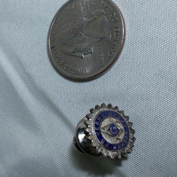 Vintage Kansas Masonic Lapel Pin - 25 Year Award