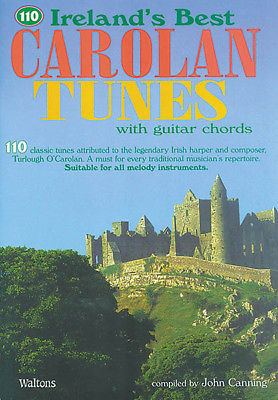 110 Ireland's Best Carolan Tunes Irish Sheet Music Guitar Chords Book NEW