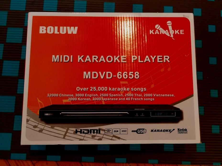 Boluw * Rare MDVD-6658 Karaoke Player * 25K Songs *Chinese,English,Spanish+ More