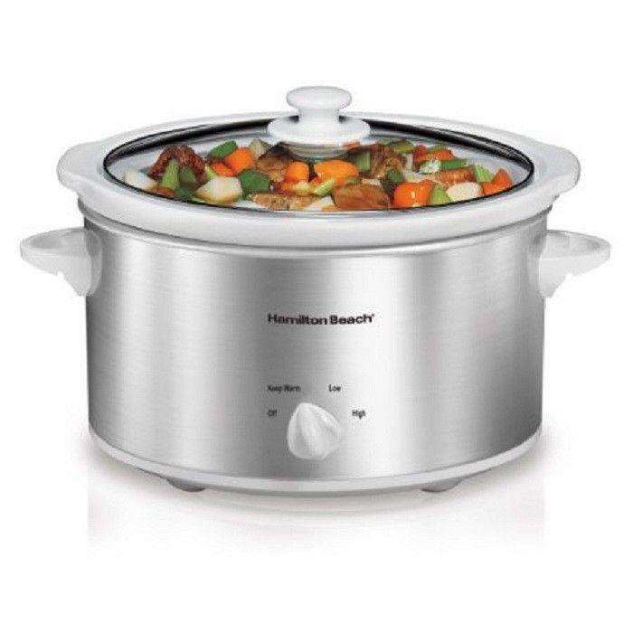 Hamilton Beach 4 Quart Oval Kitchen Countertop Slow Cooker | Model# 33140V