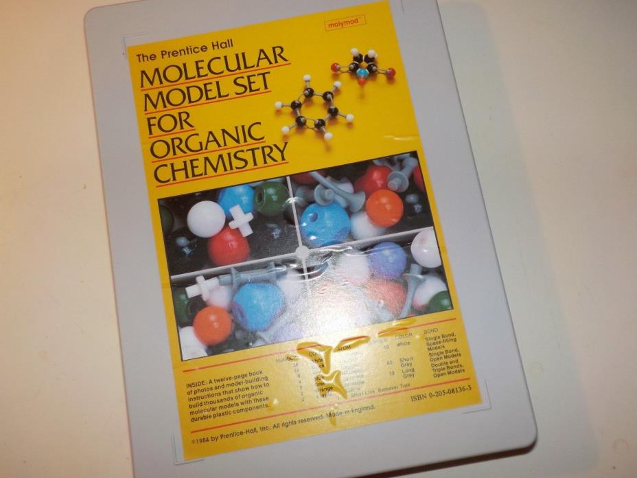 Prentice Hall Molecular Model Set For Organic Chemistry OCHEM molymod un-used