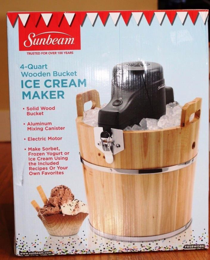 sunbeam ice cream maker manual frsbwdbk