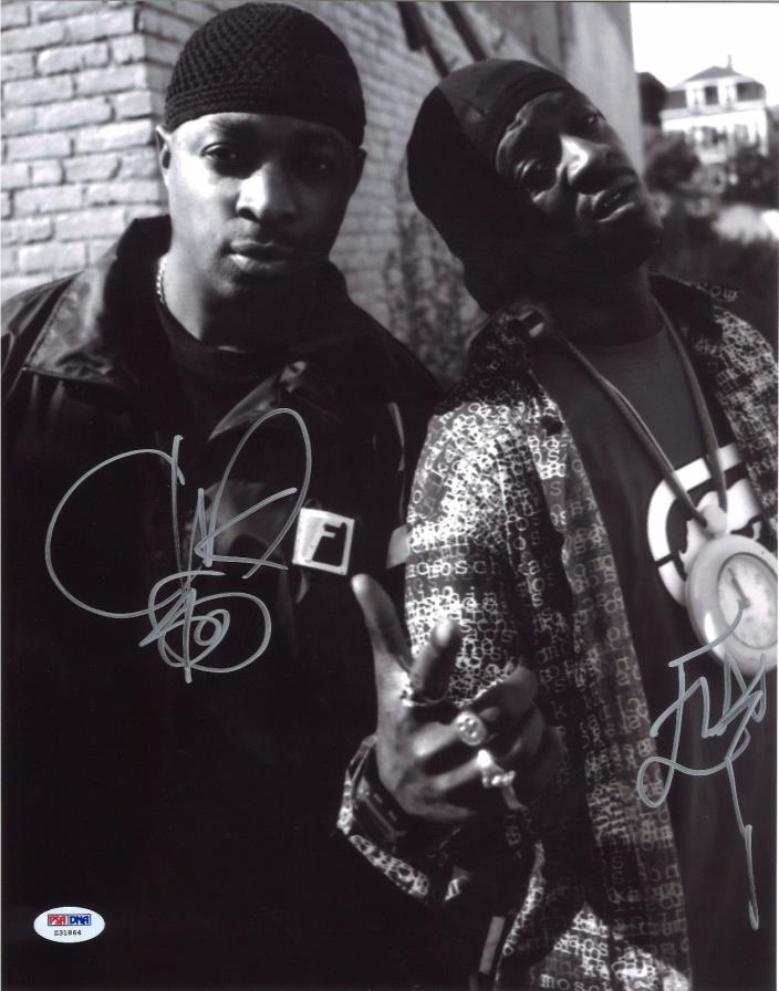 Chuck D Flavor Flav Dual Signed Photo 11X14 PSA/DNA Autographed Public Enemy