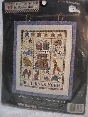 Dimensions counted cross stitch kit ALL THINGS NOAH 72279 ark animals 9 x 11