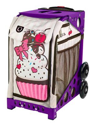 Zuca Sprinklez Insert Bag & Purple Frame with Flashing Wheels