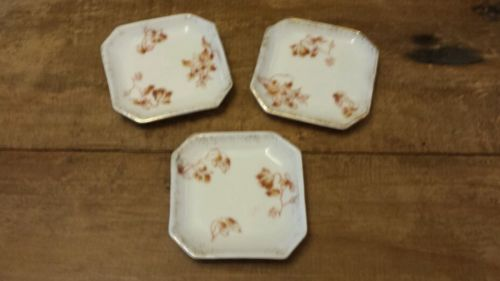 Set Of 3 Vintage Or Antique Butter Pat Carlsbad H&C Austria Collectible