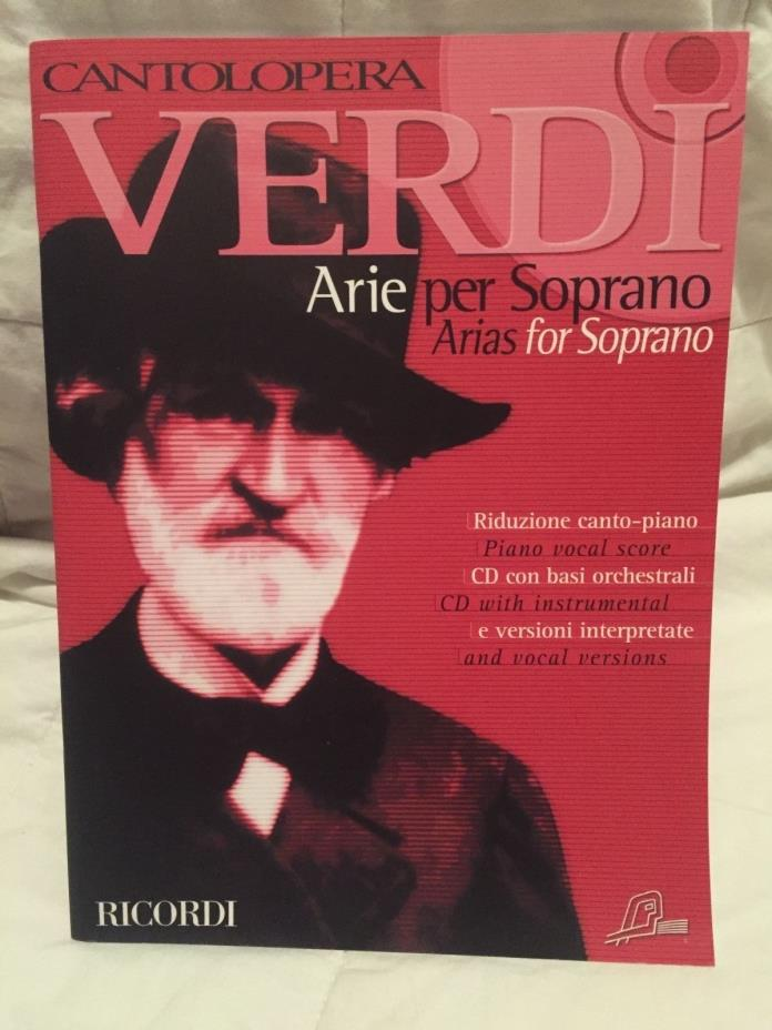Verdi Arias for Soprano: Cantolopera Collection: Songbook, Sheet Music with CD