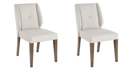 Linen Colored Dining Chair Set of 2