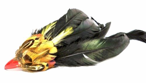 Antique Bird Feather Beak  Head For Hat Making