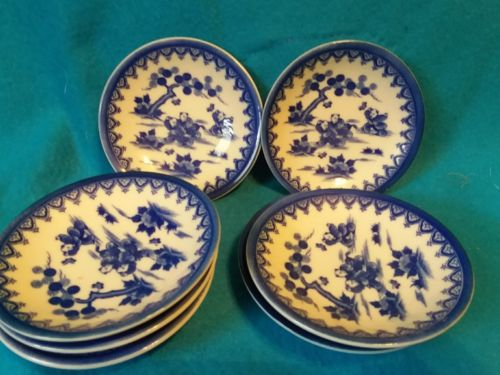 blue willow plates, mini,  small tea sets