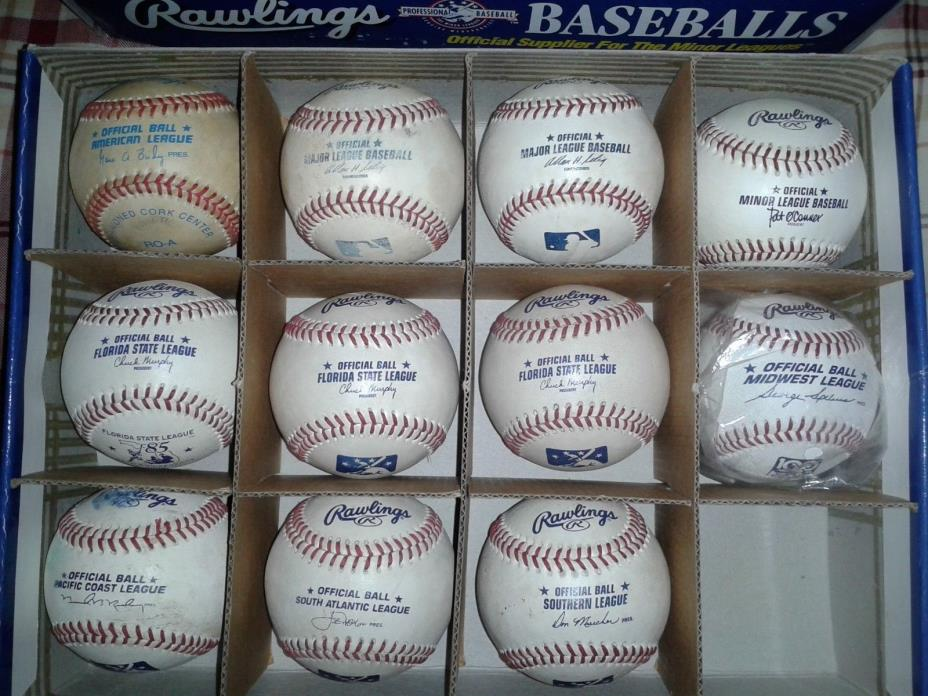 GAME USED BASEBALLS, MLB, MINOR LEAGUE, INDEPENDENT, KOREAN, PUERTO RICO LEAGUE!