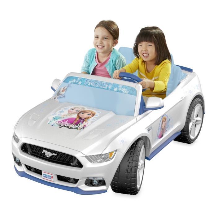 Mustang Power Wheel Disney Frozen Fisher-Price Race Car Fun Play Activity New