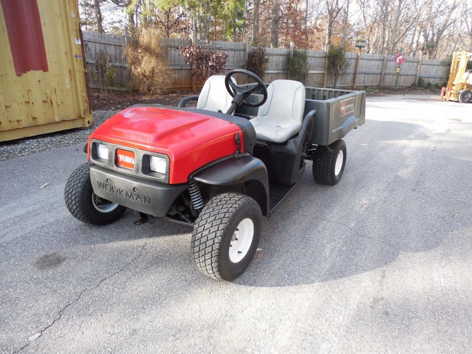 2014 TORO WORKMAN MD KOHLER GAS UTILITY GOLF CART W/ ELECTRIC DUMP BED 1124 HRS