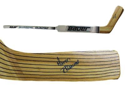 MANON RHEAUME AUTOGRAPHED TAMPA BAY LIGHTNING BAUER HOCKEY STICK 12852