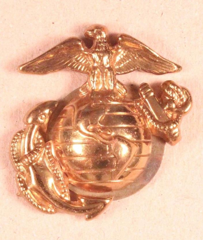 USMC Marine Corps - M1963 Enlisted EGA Hat Badge, Dress - Vietnam era