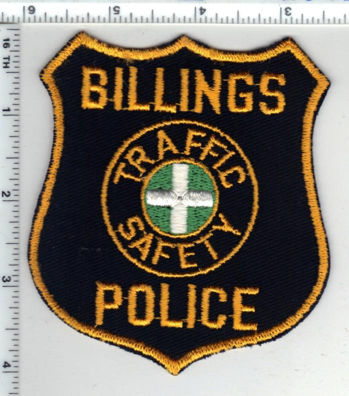 Billings Police (Montana) Traffic Safety Shoulder Patch - new from the 1980's