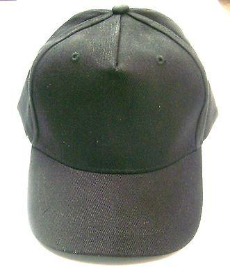 Cap Baseball Hat Black Adjustable Velcro Closure Toddler Size Lot of 12