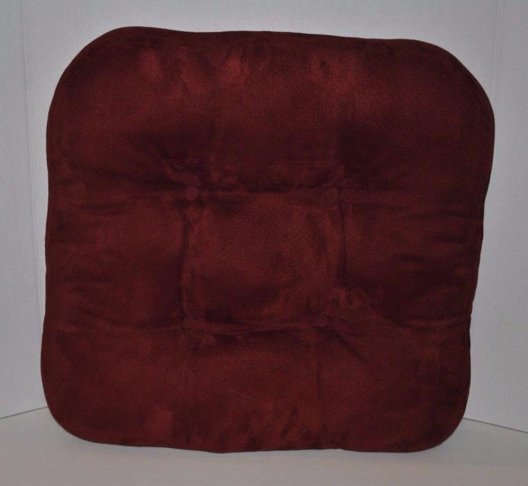 Set of 4 Indoor DINING KITCHEN Non Slip Chair Cushion Pad Color Mulberry Red