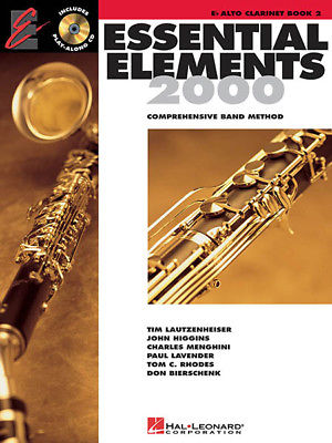Essential Elements 2000 Book 2 Eb Alto Clarinet Band Method Play-Along CD NEW