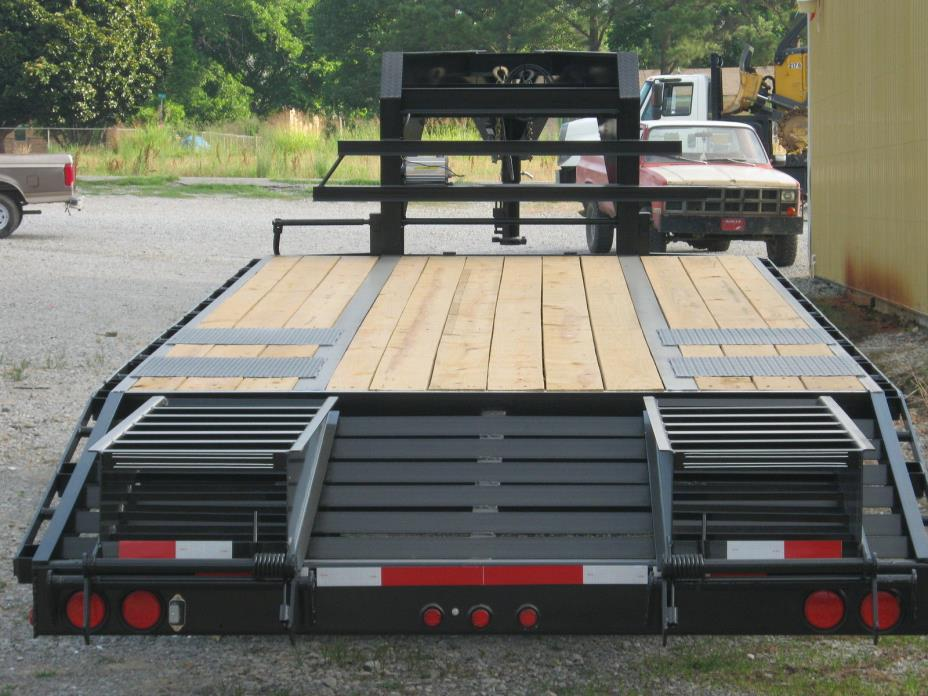 NEW 2018 20'+5' TRAILER-TORQUE TUBE-PIERCED FRAME-SUPER SINGLE-17.5  TIRES