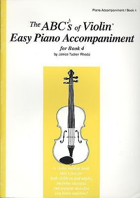 The ABC's Of Violin Easy Piano Accompaniment For Book 4 Rhoda Tchaikovsky Folk
