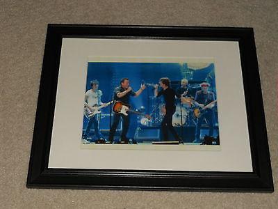 Framed Bruce Springsteen, Rolling Stones Stage Shot Mini-Poster, 14