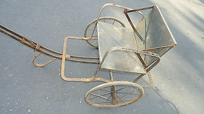 Antique 1800's Baby/Child Buggy Carriage Stroller Doll Pull