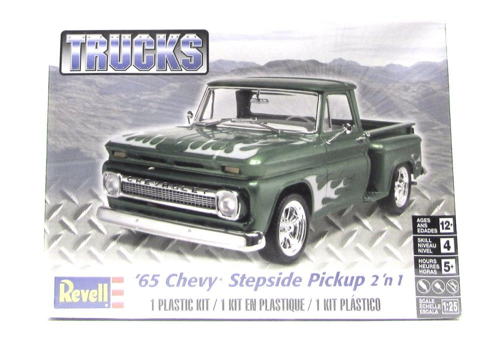 1965 Chevy Stepside Pickup Revell 85-7210 1/25 New Classic Truck Model Kit